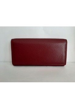 Кожаный кошелек (бордовый)