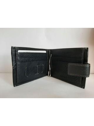 Кожаный черный кошелек