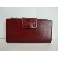 Бордовый кошелёк из экокожи