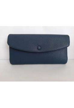 Синий кошелёк из экокожи