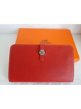 Красный кошелек из экокожи