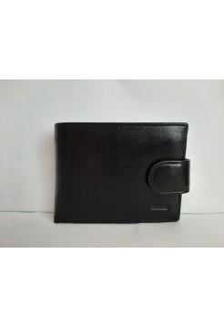 Черный кошелек из экокожи