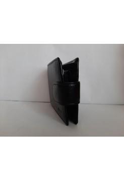 Чёрный кошелек из экокожи